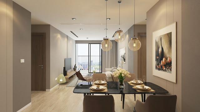 Thiết kế phòng khách chung cư Gemek Premium