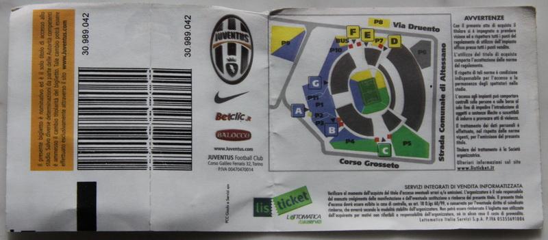 Билет на игру Ювентус - Парма