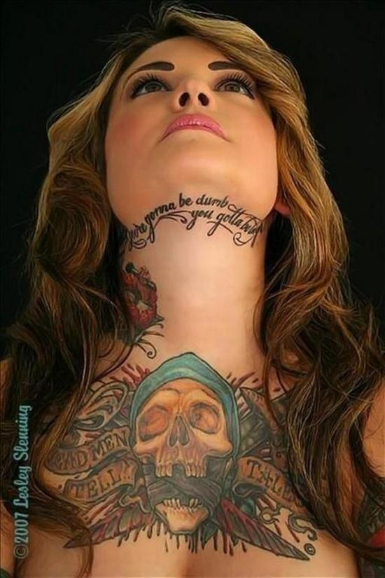 Amazing Skull Good Body Art Female tattoo - Female tattoo ...