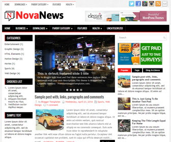 Nova News Blogger Template Blog Berita