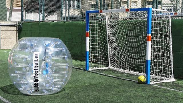 Futball, o soccer, de burbuja, un deporte sano, recreativo, y muy original