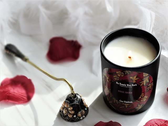 avis Rose Musk de Ma Bougie Wax Paris, blog bougie, bougie parfumee, candle review, bougie francaise, bougie naturelle