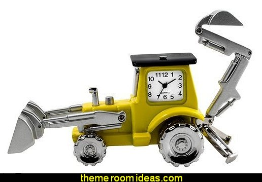 Construction Truck Digger Clock  construction theme bedrooms - Lego bedroom furniture - construction trucks theme bedroom  -  Lego theme bedroom decorating - boys bedrooms construction themed LEGO furniture  - under construction building site - construction themed  bedroom decor - Lego bedroom decor ideas - primary color bedroom ideas - Tool belt theme