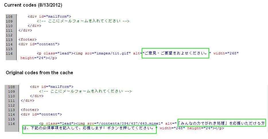 Goshi Hosono's Fancy New Webpage: Alt Code for the