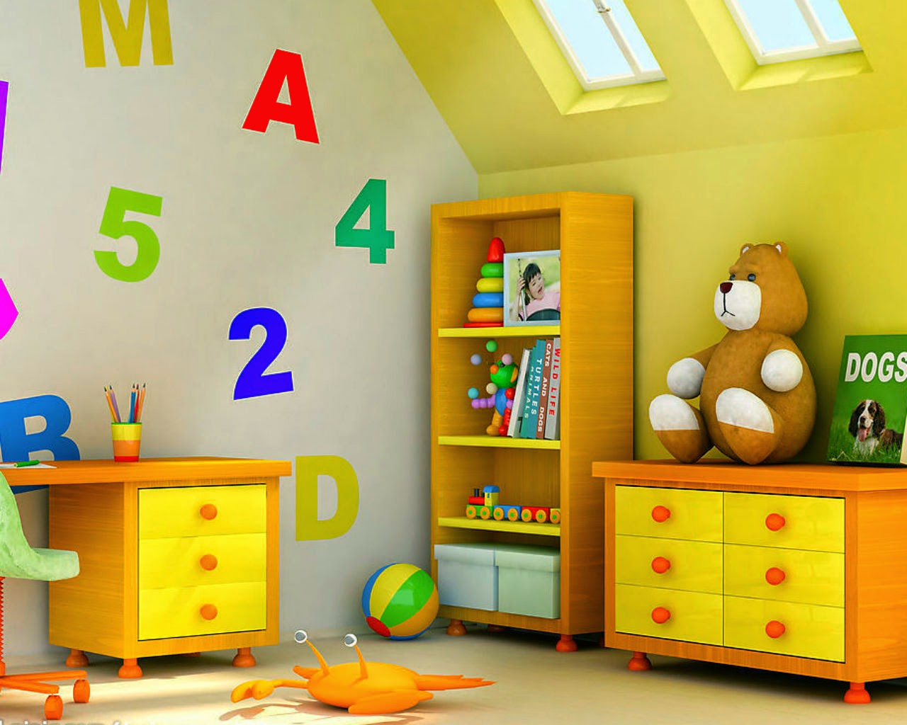 Cute teddy bear wallpapers for little kids and children Wallpaper for childrens room