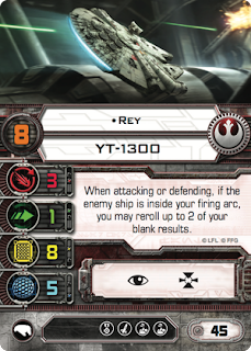 star wars x-wing Rey card