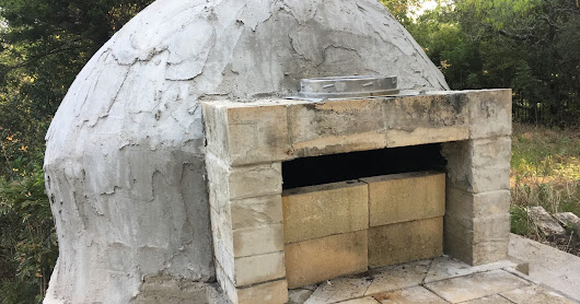 Brick Oven: Stucco and Paint