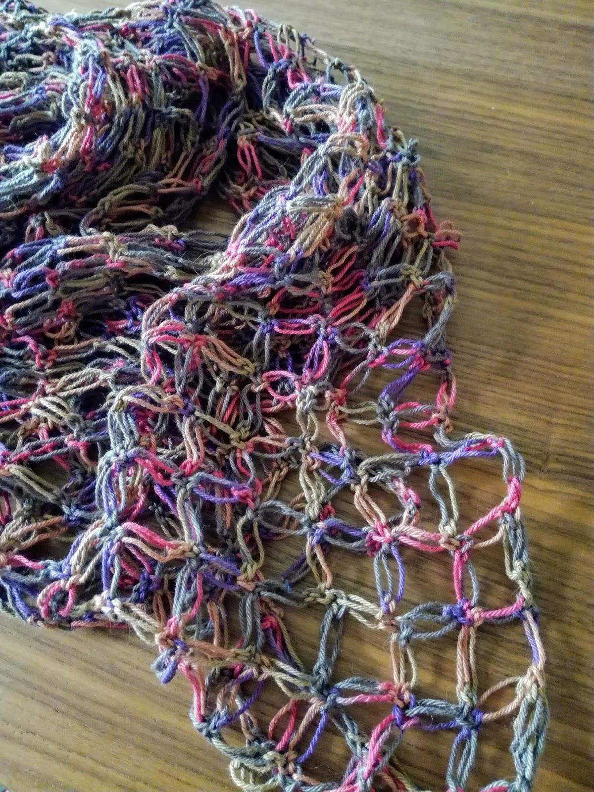 solomon's knot crochet scarf