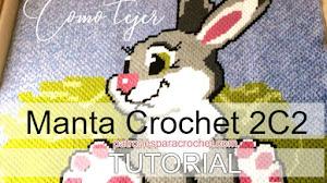 Atrévete a tejer una manta a crochet usando la técnica c2c