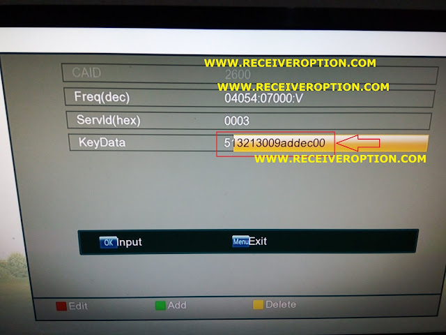 ECOLINK EL5100 BRAVO HD RECEIVER BISS KEY OPTION