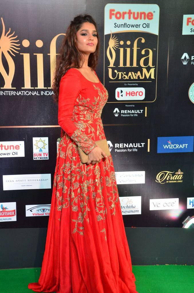 Tollywood Actress Ritika Singh At IIFA Awards 2017 In Orange Dress