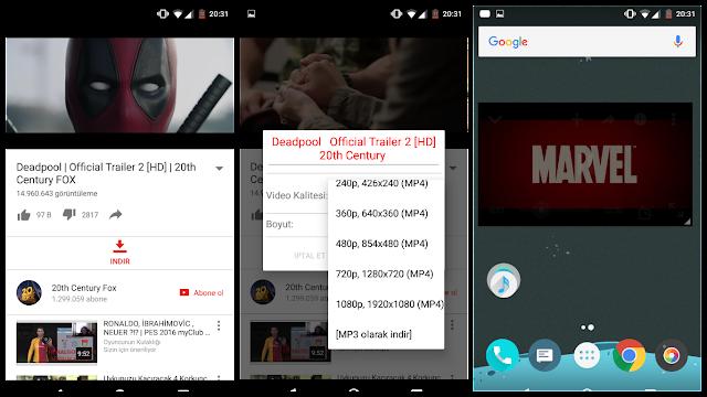 Android'de Youtube Videolarını Arka Planda Oynatma ve İndirme