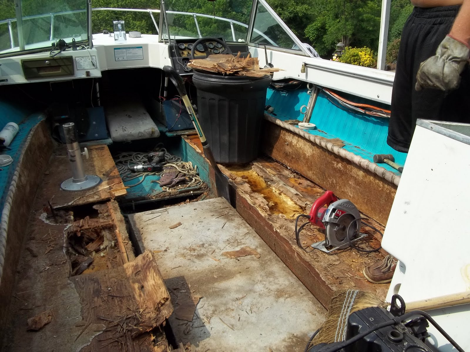 Fix Your Old Boat How To Repair Rotten Deck In Fiberglass