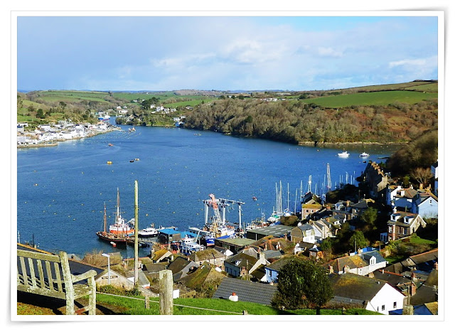 Beautiful view of the Fowey River, Cornwall from Polruan