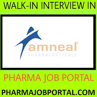 Amneal Pharmaceuticals Ltd  Walk In Interview For Multiple Positions (70 Openings) at 23 Sep