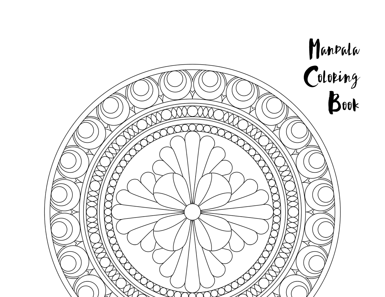 Mandala Page Blank Coloring Pages