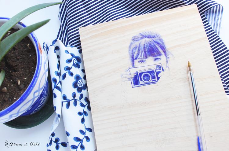 Cómo dibujar con bolígrafo sobre madera