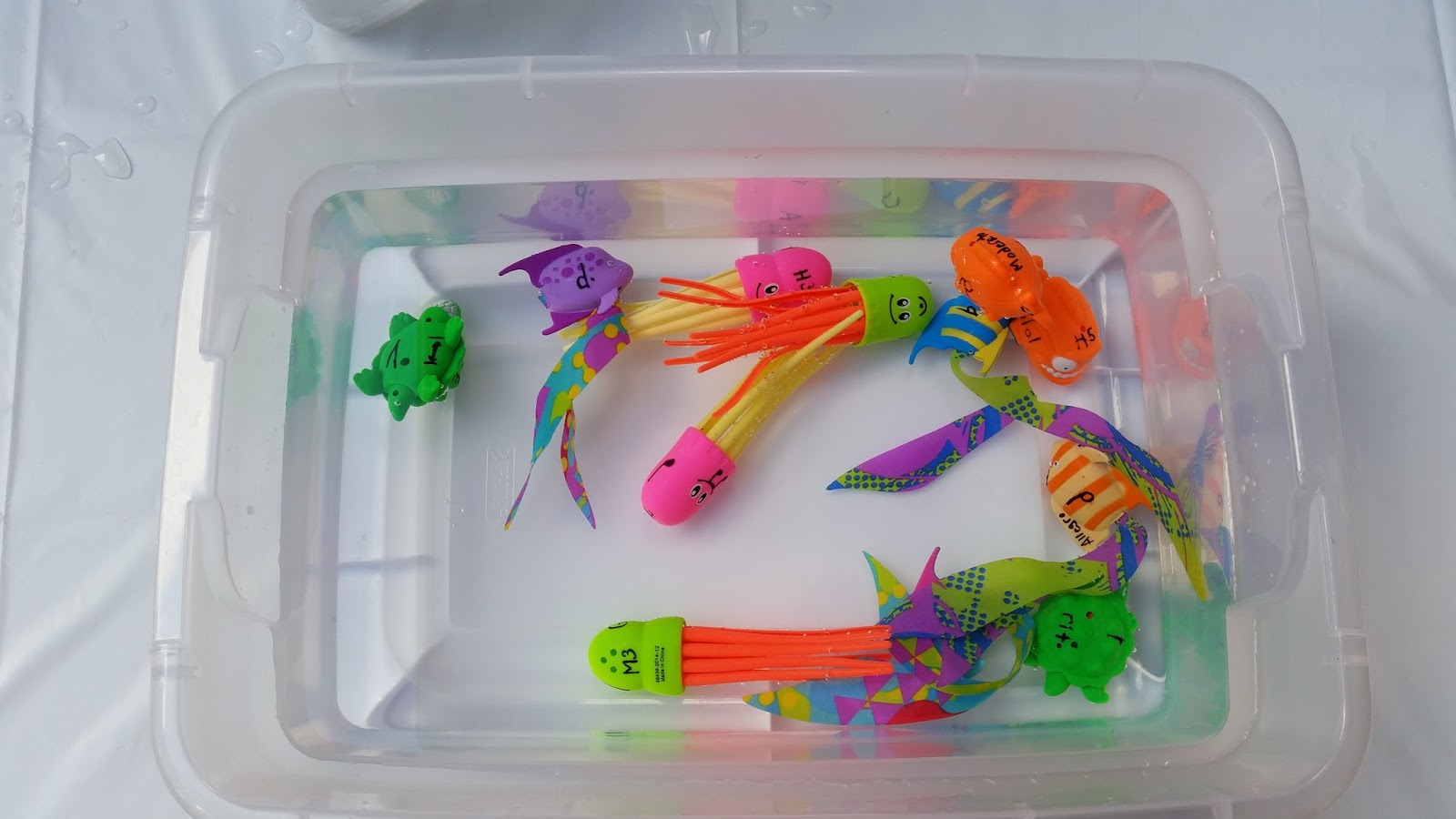 Making piano lessons fun and engaging musical fish tank for Plastic fish bowls dollar tree