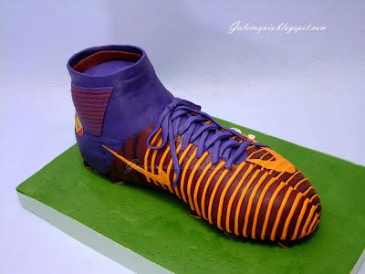 Tarta bota de fútbol