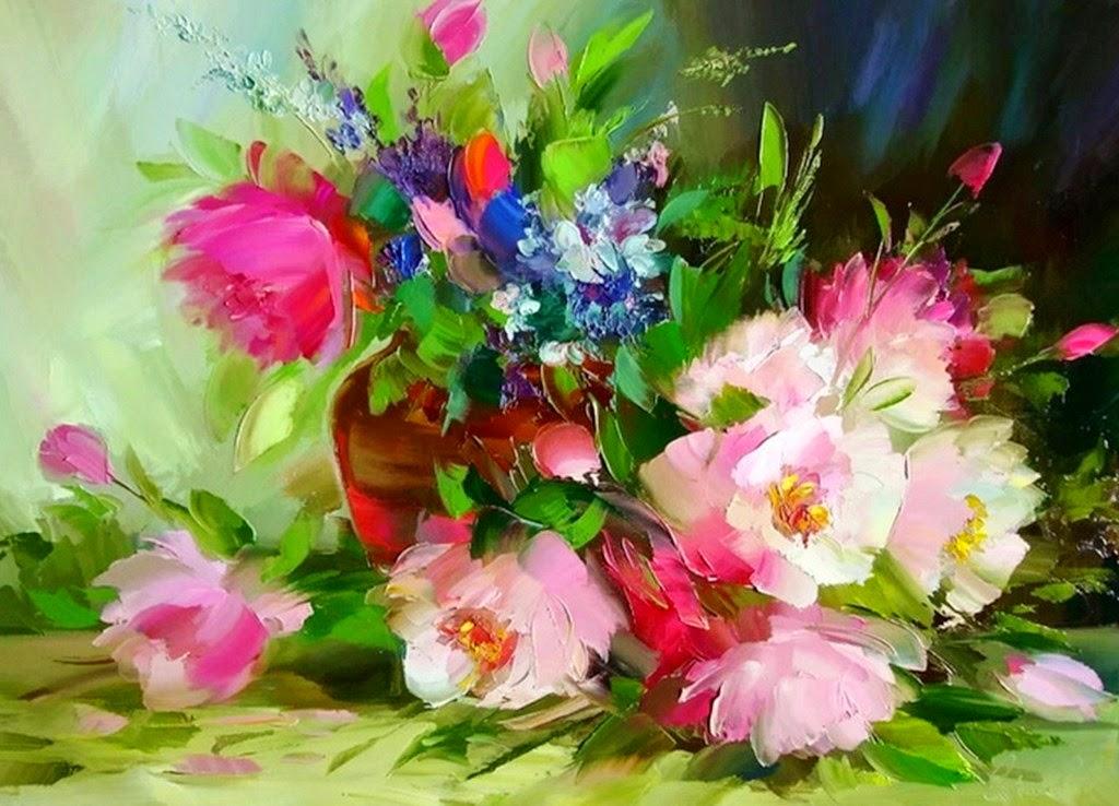 Cuadros modernos pinturas y dibujos flores cuadros - Imagenes para cuadros ...