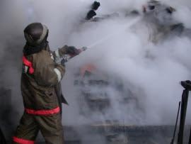 Пожар в городе Камышлове 16.10.2018