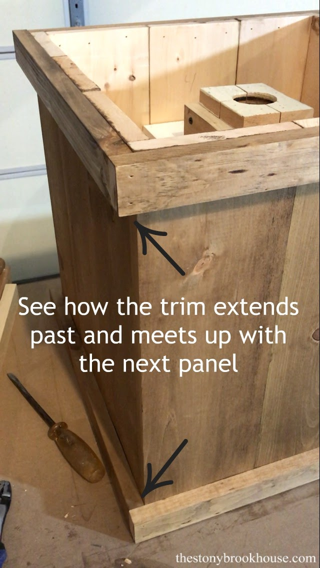 Trim extends past panel