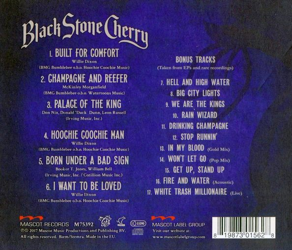 BLACK STONE CHERRY - Black To Blues (2017) back