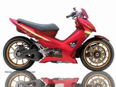 Foto Modifikasi Absolute Revo 110 cc