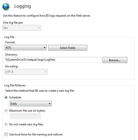 Prakher Singhal's Blog: IIS Log File Locations, Logs Format, Logging