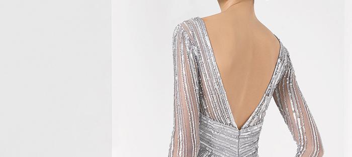 Escote espalda vestido de fiesta de Rosa Clará 2016