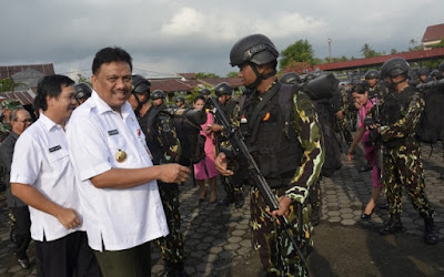 Target Pasukan Brimob Polda Sulut Buruh Teroris Santoso