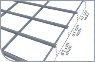 Khoảng cách đòn tay ( xà gồ) :  61 cm