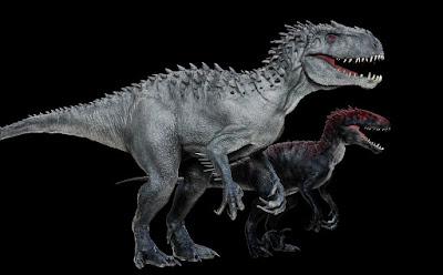 Comparación tamaño Indoraptor vs Indominux Rex