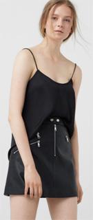 Falda Biker con bolsillos de cremallera y botones 2017