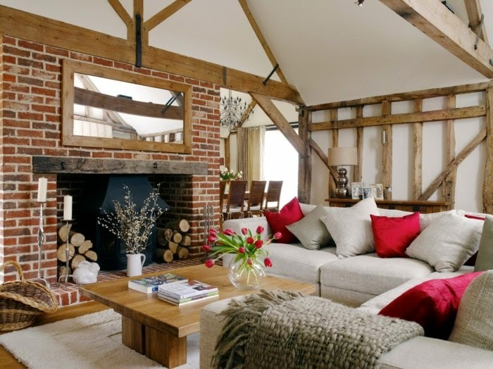 Dise os de salas r sticas modernas colores en casa - Diseno casa rustica ...