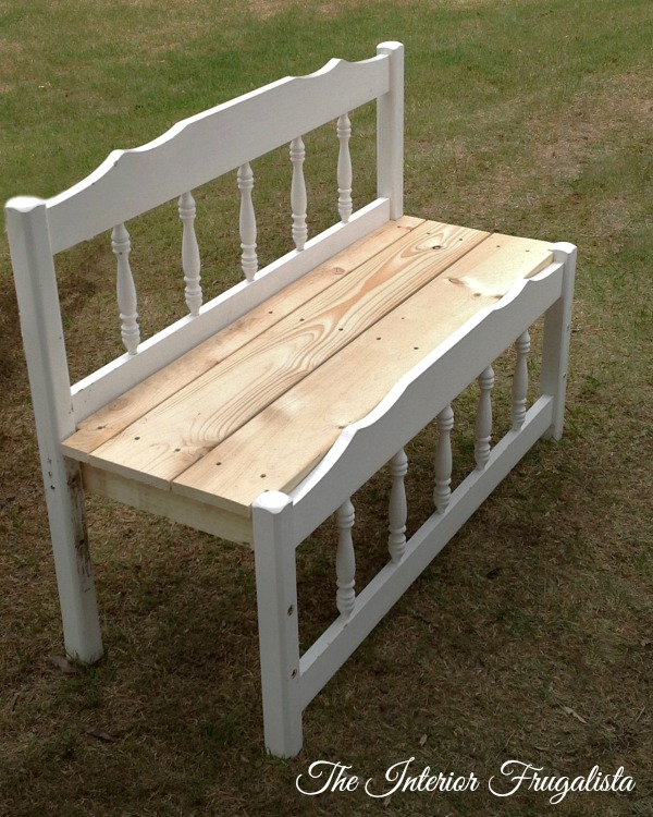 Twin Captain's Bed Turned Charming Outdoor Bench