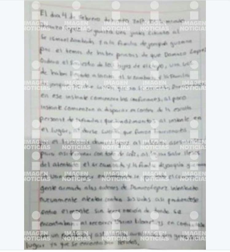 En carta envíada por Los Chapitos aseguran que Los Damasos intentaron matarlos cuando iban con El Mayo Zambada y quedaron heridos