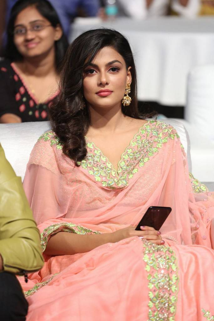 Visakhapatnam Beautiful Telugu Girl Stills In Pink Dress Anisha Ambrose