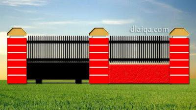 desain tampak luar dengan gerbang