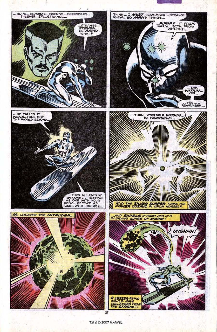 Read online Silver Surfer (1987) comic -  Issue #32 - 29