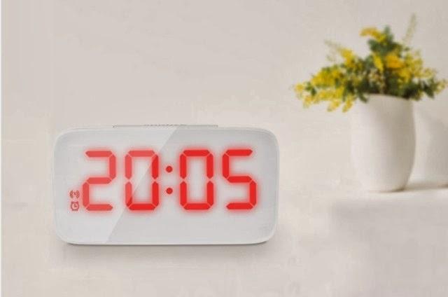 New Generation Sound Sensor LED Alarm Clock (White Color) | sai pak