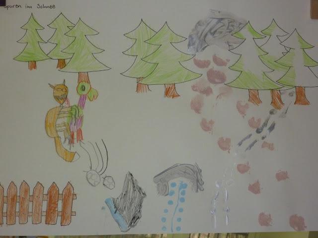 Tierspuren basteln zeichnen malen