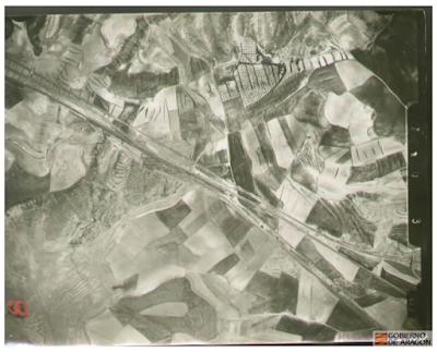 Catastro de la riqueza rústica. Fotografía aérea de Longares.1936
