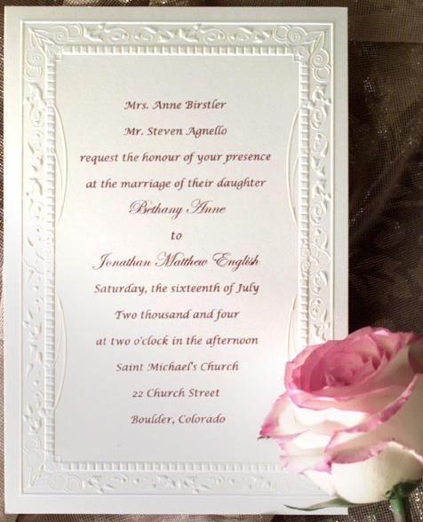 Prepare Wedding Dresses: Wedding Invitation Wording
