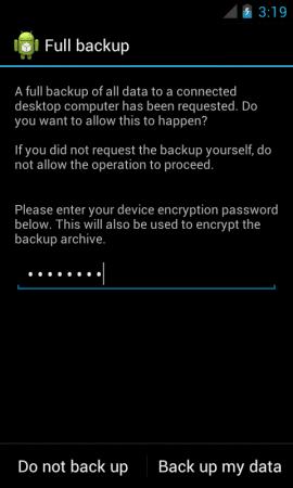 tutorial full backup perangkat android