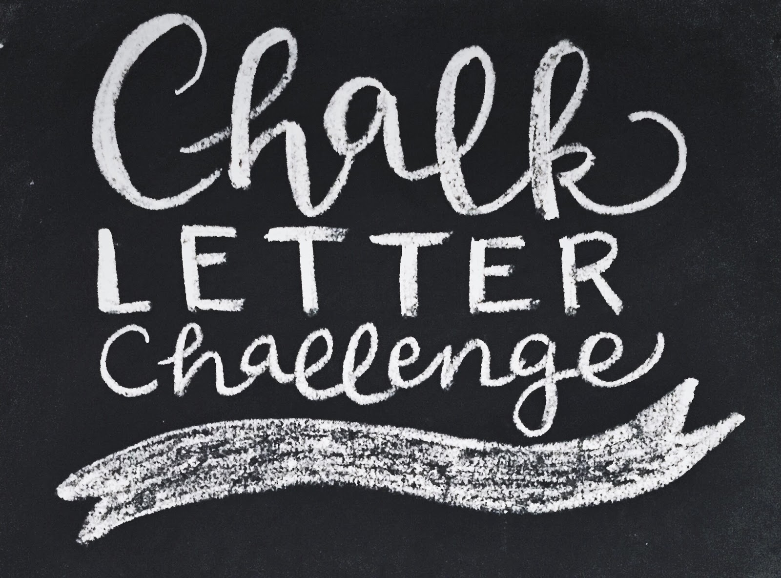 Life Unscripted: Join the Chalk Letter Challenge!