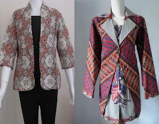 Baju Batik Kombinasi Blazer