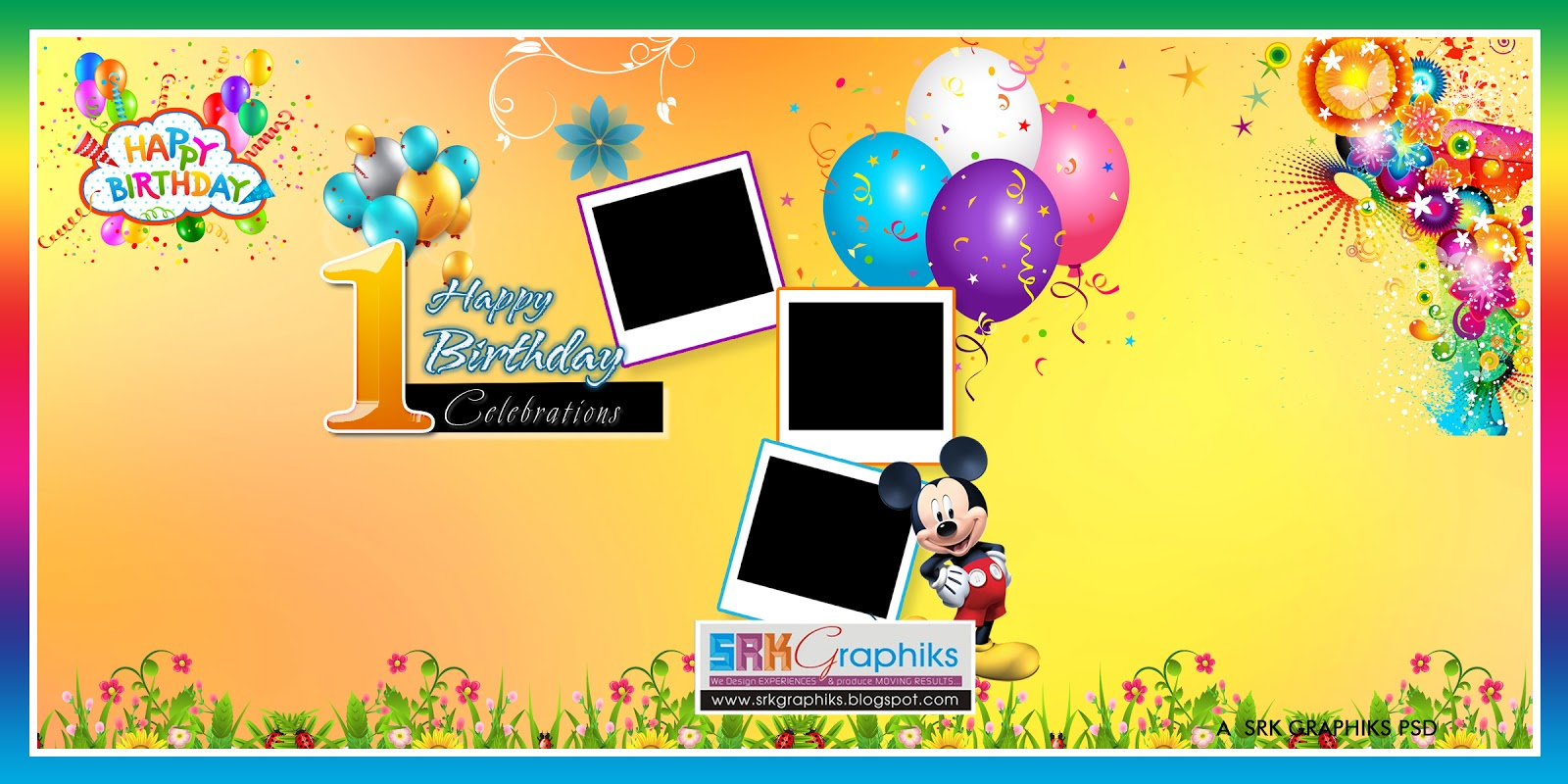 creative birthday flex banner psd template free downloads  srk