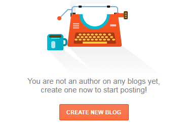 Create your first blog