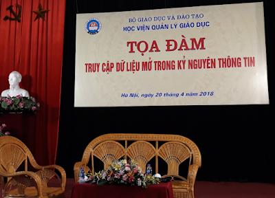 Tọa đàm 'Truy cập dữ liệu mở trong kỷ nguyên thông tin' tại Học viện Quản lý Giáo dục nhân Ngày Sách Việt Nam lần thứ 5